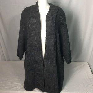 A.N.A Gray Glittery Cardigan Size 3X